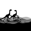 DINO BYCICLE - DINO on bycicle - Dino Collection by 11pixeli