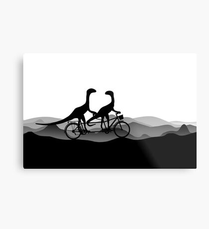 DINO BYCICLE - DINO on bycicle - Dino Collection Metal Print