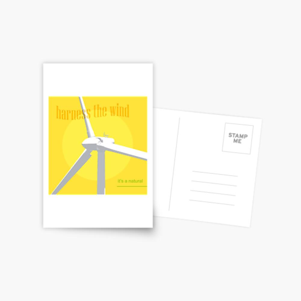 Harness The Wind Postkarte