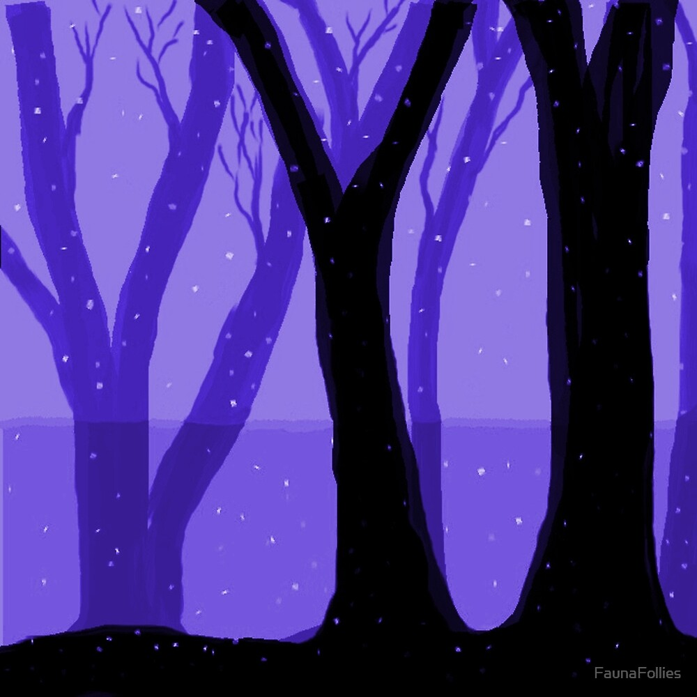 Magical Forest in PURPLE by FaunaFollies