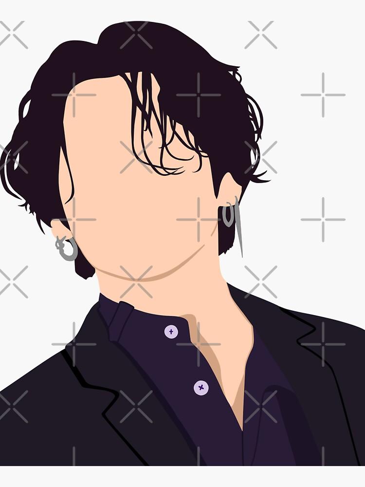 Jungkook Jungkook's Long hair JK stickers by NoonaStudio