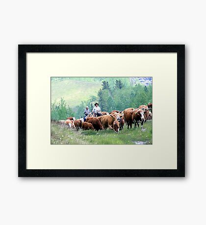 Just Like The Old Days Framed Print