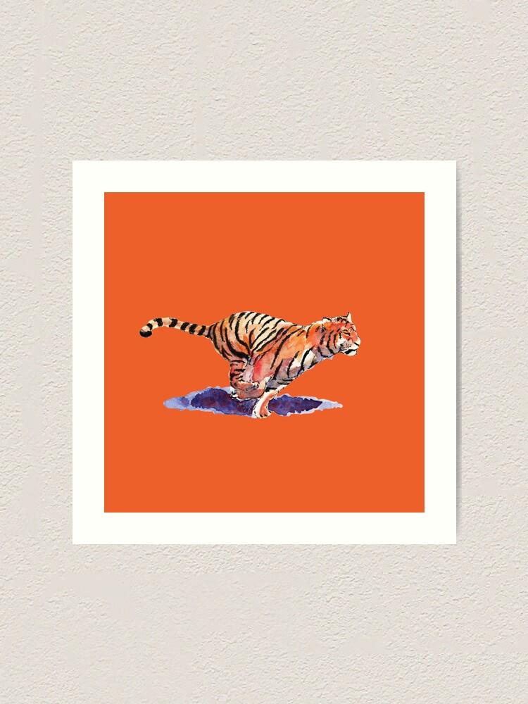 Alternate view of The Tiger - orange version Art Print