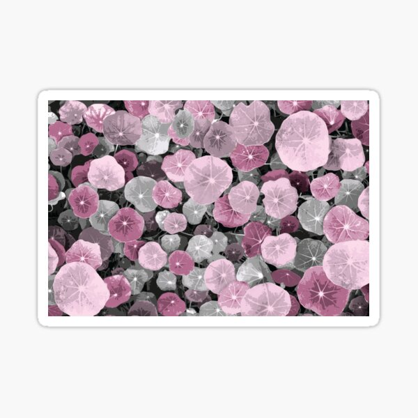 Plant Bed With Splashes of Color - Red and Pink Sticker
