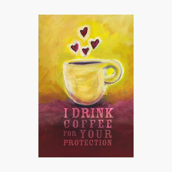 What my Coffee says to me -  June 3, 2012 Photographic Print