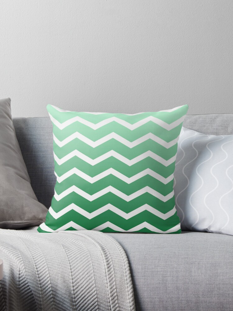 Green Ombre Fade Chevrons by ImageNugget