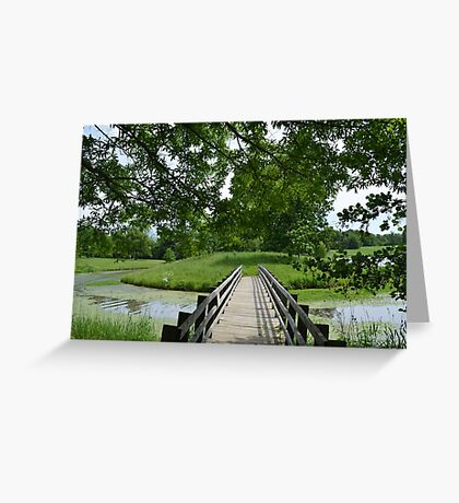 Little ole' bridge over the water Greeting Card