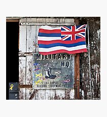Military HQ. Happy To See You. Photographic Print