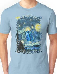 British Blue phone box painting Unisex T-Shirt