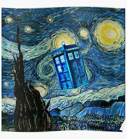 British Blue phone box painting Poster