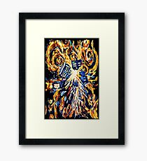 Big Bang Attack Exploded Flamed Phone booth painting Framed Print
