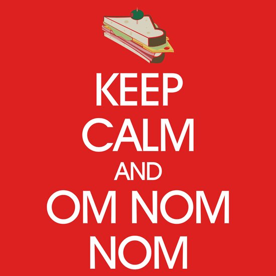 TShirtGifter presents: Keep Calm and Om Nom Nom (White Text)