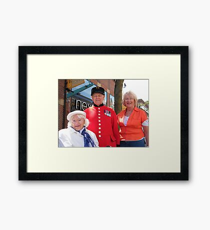 Babs, her Mum and Tom Framed Print