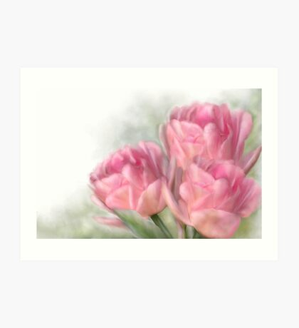 Angelique Tulips Art Print