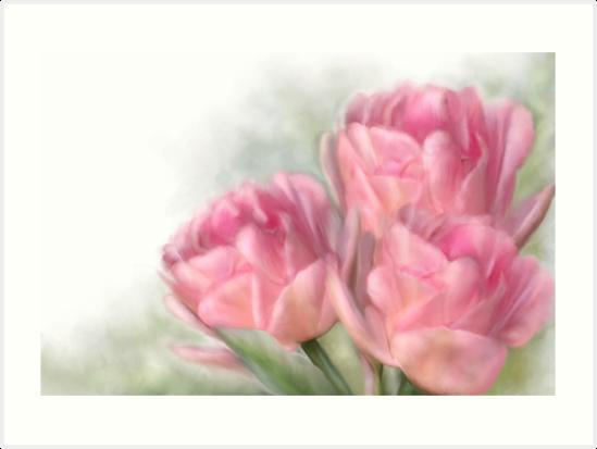 Angelique Tulips by Renee Dawson
