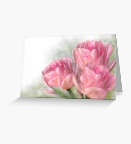 Angelique Tulips Greeting Card
