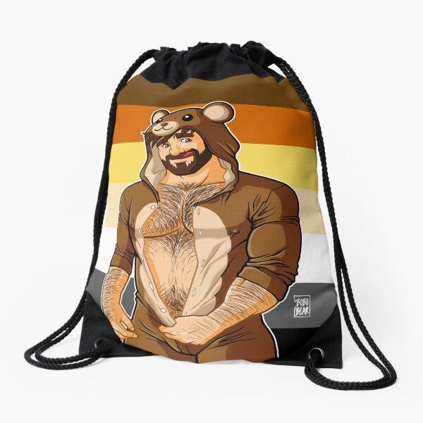ADAM LIKES TEDDY BEARS - BEAR PRIDE Drawstring Bag