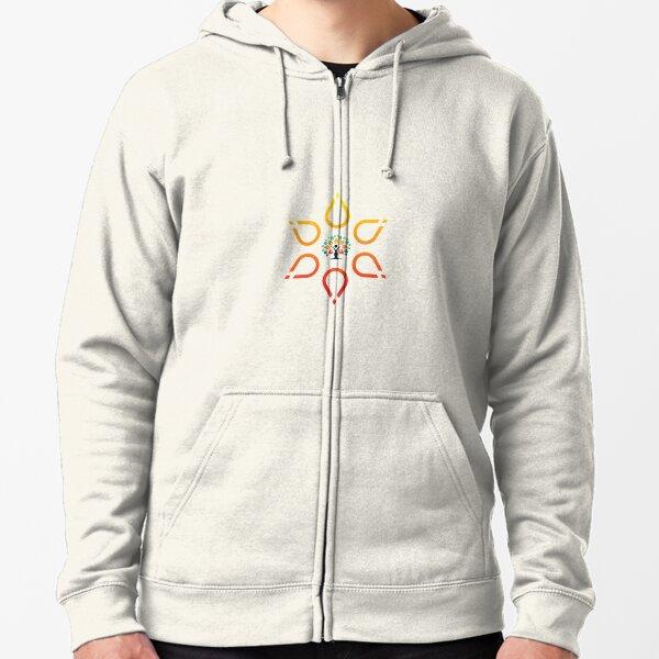 amazing logo designing Zipped Hoodie