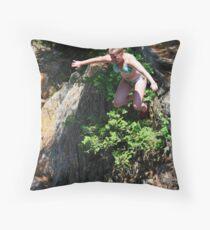 Smalls Falls Leap of Faith #6 Throw Pillow