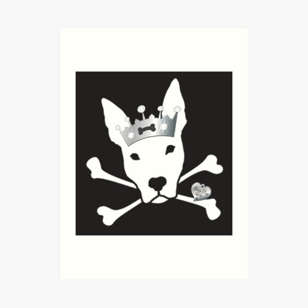 Pittie Skull Princess Art Print