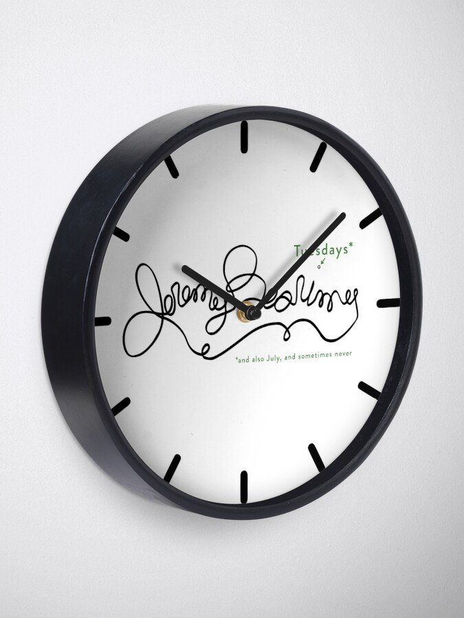 Alternate view of Jeremy Bearimy (with notation) Clock