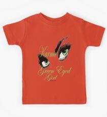 karma arts uk - Karmas Green Eyed Girl Kids Tee