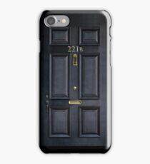 Black Door with 221b number iPhone Case/Skin