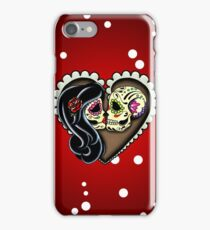 Ashes - Day of the Dead Couple - Sugar Skull Lovers iPhone Case/Skin