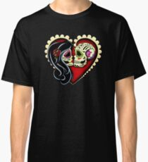 Ashes - Day of the Dead Couple - Sugar Skull Lovers Classic T-Shirt