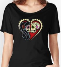 Ashes - Day of the Dead Couple - Sugar Skull Lovers Women's Relaxed Fit T-Shirt