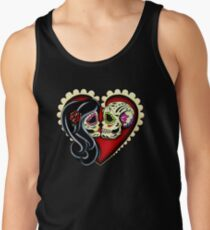 Ashes - Day of the Dead Couple - Sugar Skull Lovers Tank Top