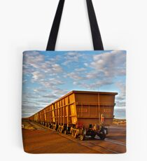 Long train in the middle of nowhere Tote Bag