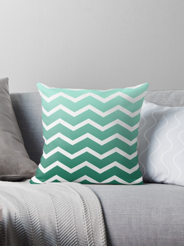 Mint Ombre Fade Chevrons by ImageNugget