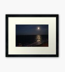 full moon over Virginia Beach Framed Print