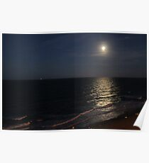 full moon over Virginia Beach Poster