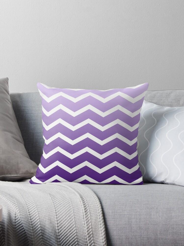 Purple Ombre Fade Chevrons by ImageNugget