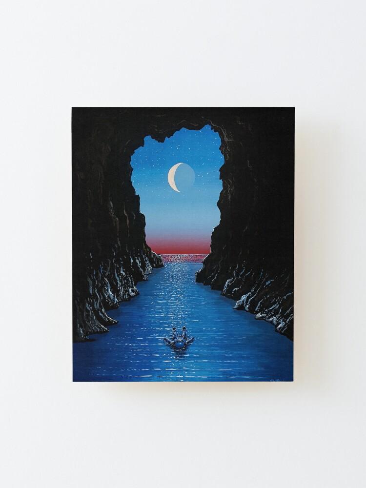 Alternate view of Night Drift Mounted Print