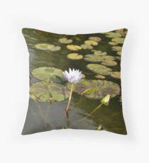 Sunken Gardens Lily Throw Pillow
