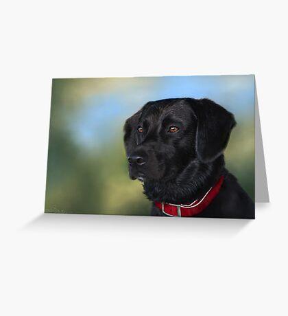 Black Lab - Dog Portrait Greeting Card