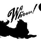 "Border Collie Disc dog--""Whee!"" by stellarmule"