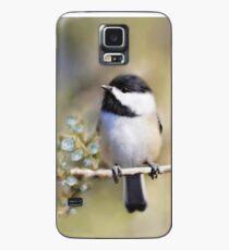 Cedar Rose Chickadee Art Case/Skin for Samsung Galaxy