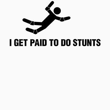 Professional Stuntman/Stuntwoman Shirt (Black) by adamcampen