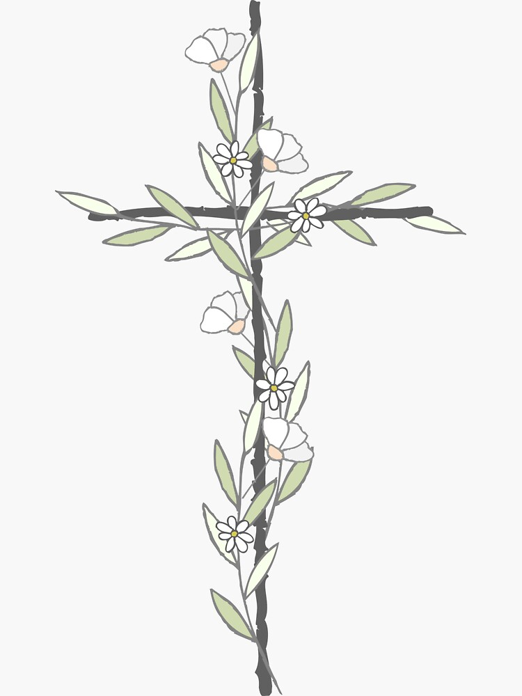 Kreuz mit kleinen Blumen von walk-by-faith