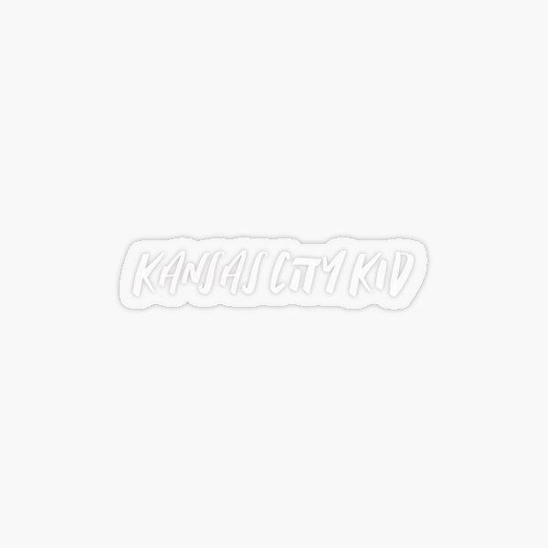 Kansas City Kid (White) Transparent Sticker