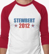 Stewbert 2012 Red/Blue B Men's Baseball ¾ T-Shirt