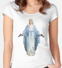 Mary Mother of God Women's Fitted Scoop T-Shirt
