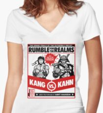 Let's Get Ready to Kombat! Women's Fitted V-Neck T-Shirt