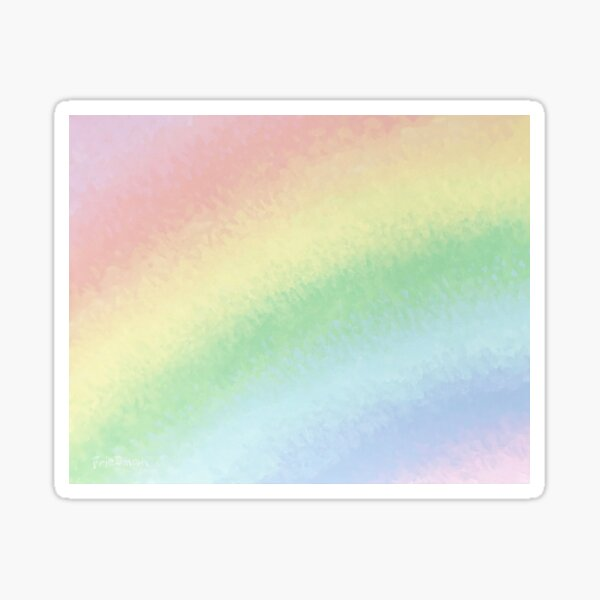 Rainbow Closeup Sticker