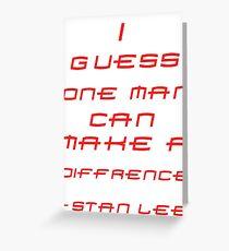 Stan Lee Greeting Card