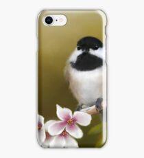 Apple Blossom Chickadee iPhone Case/Skin